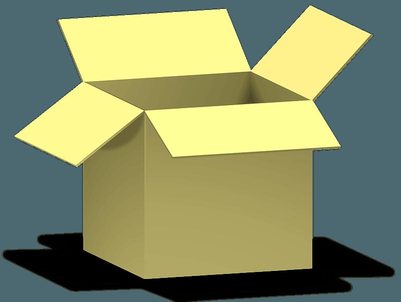 Open Box clipart transparent 1