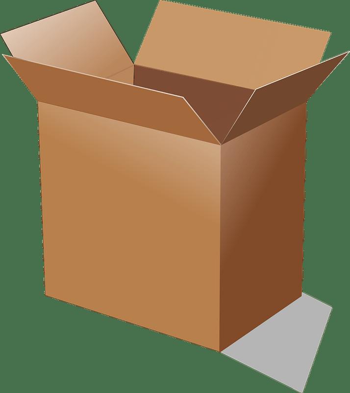 Open Box clipart transparent 3