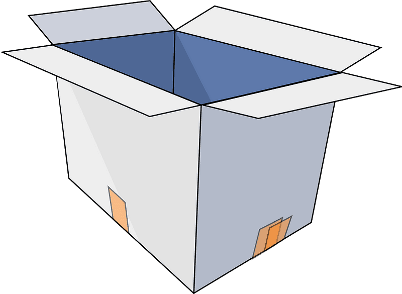 Open Box clipart transparent 5