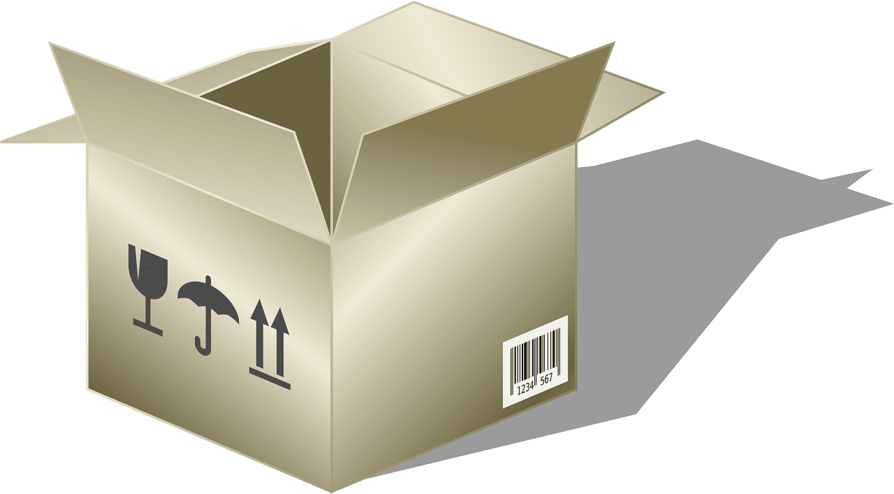 Open Box clipart transparent