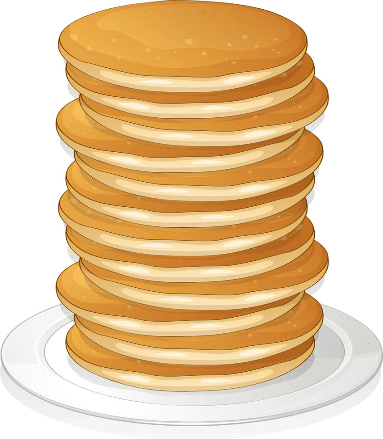 Pancakes clipart for kid
