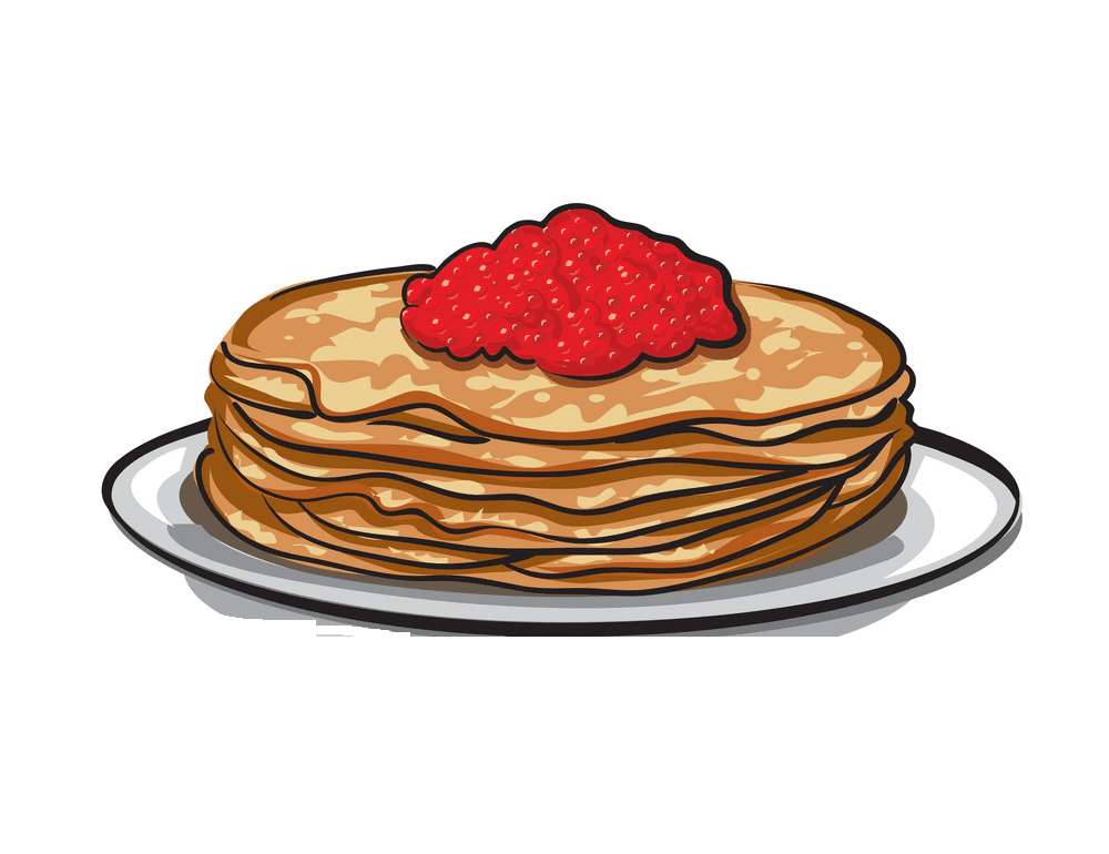 Pancakes clipart for kids