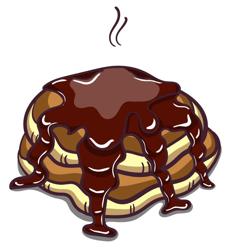 Pancakes clipart free 1