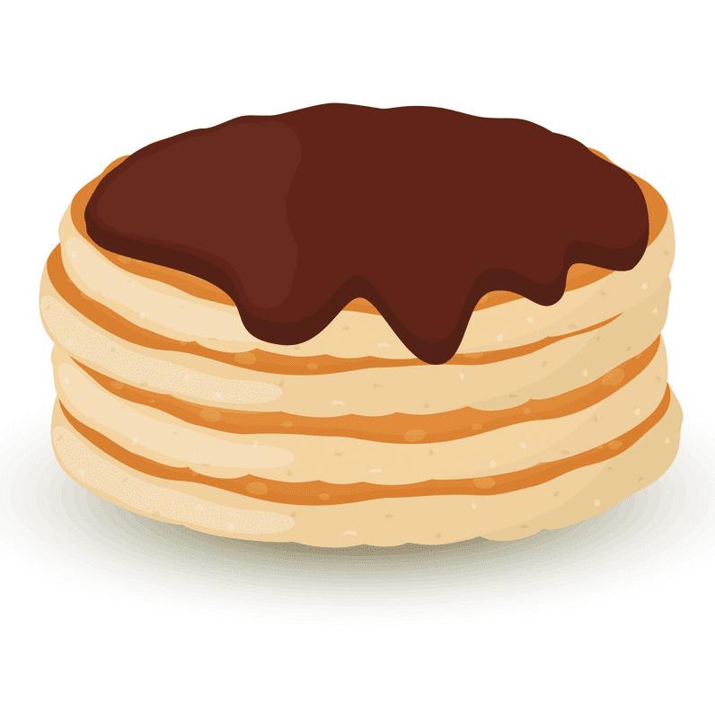 Pancakes clipart free 2