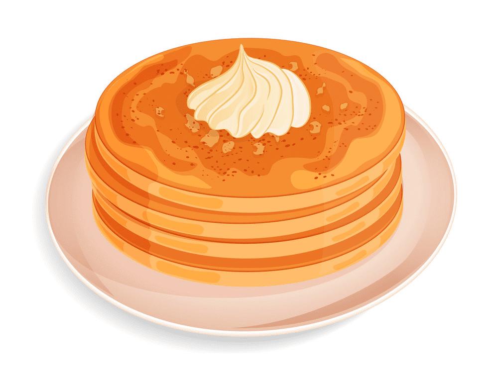 Pancakes clipart free 3