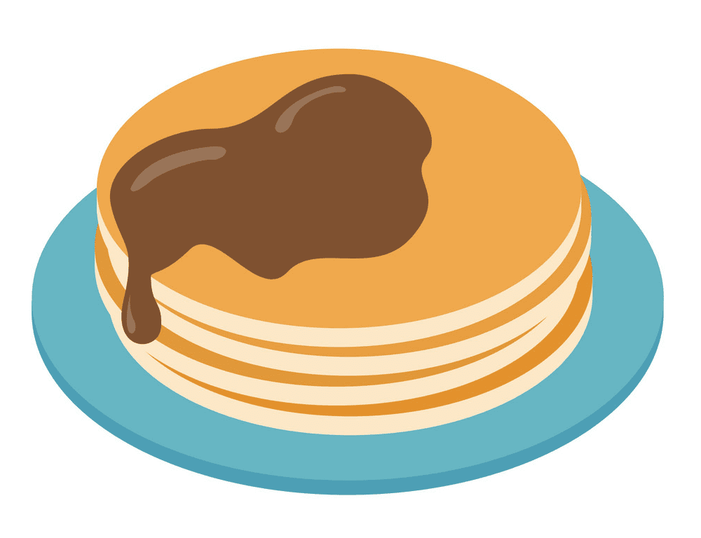 Pancakes clipart free 4