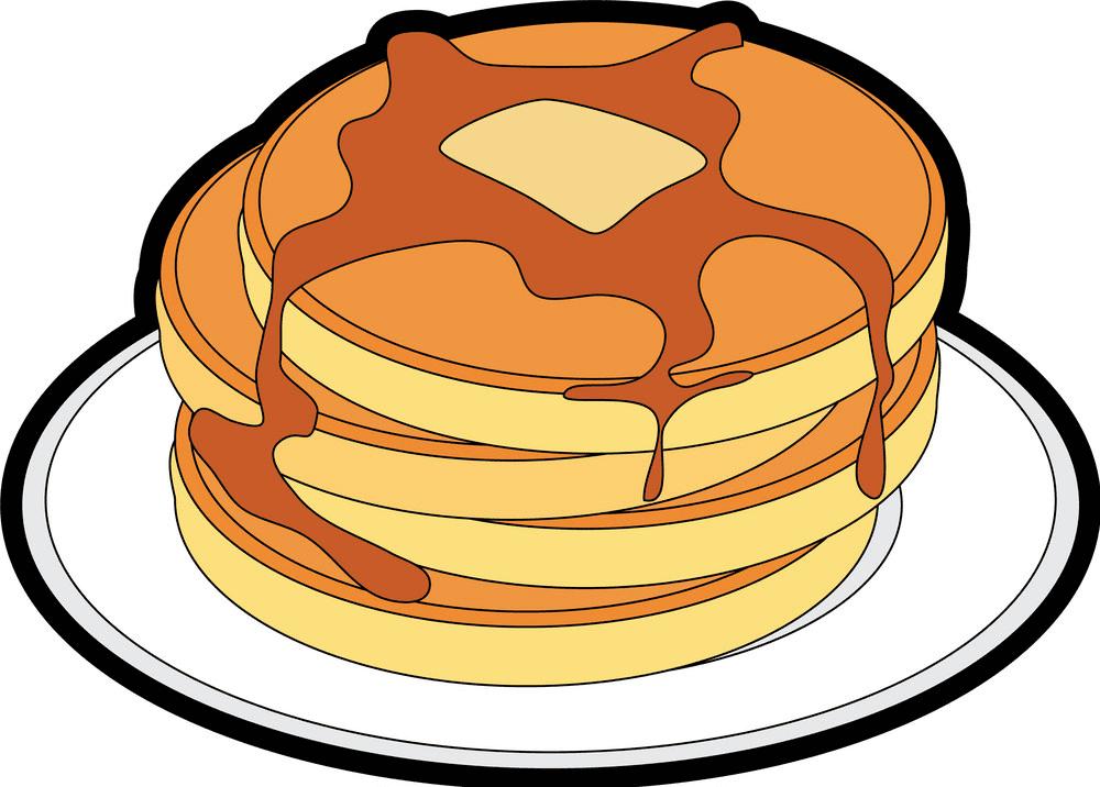 Pancakes clipart free 6