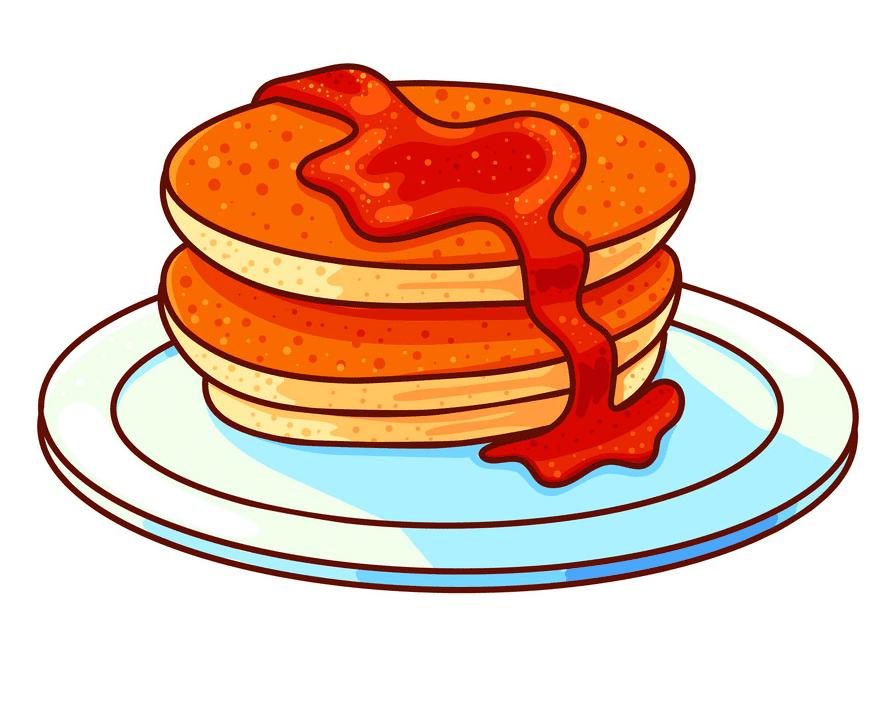Pancakes clipart free 7