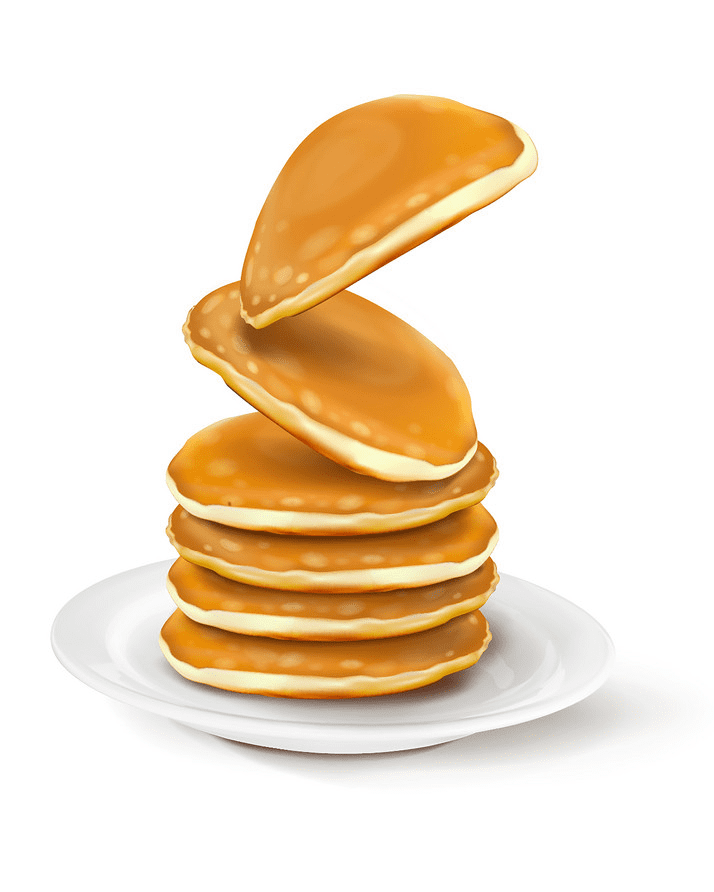 Pancakes clipart free for kid