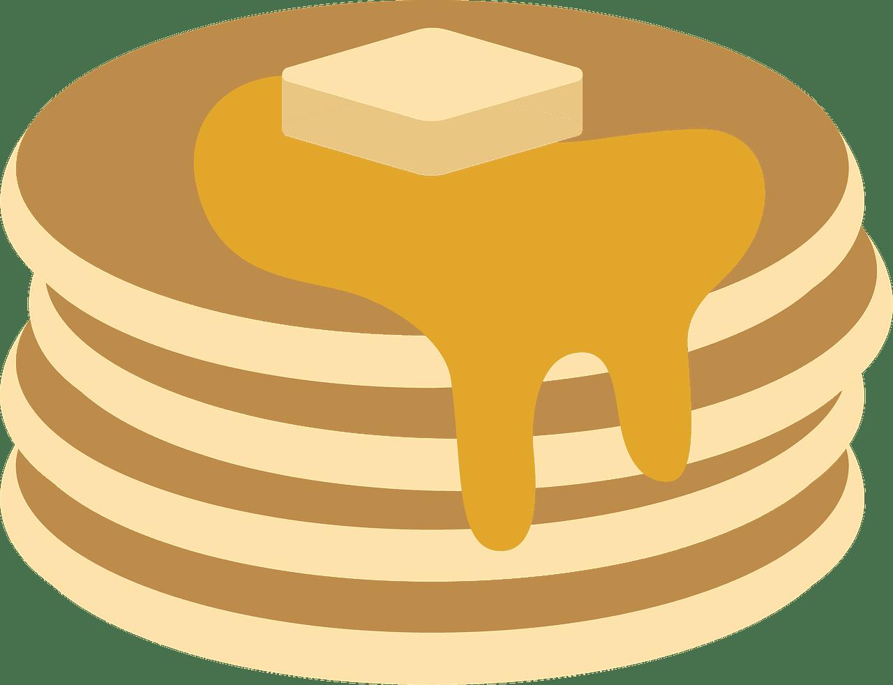 Pancakes clipart transparent 4
