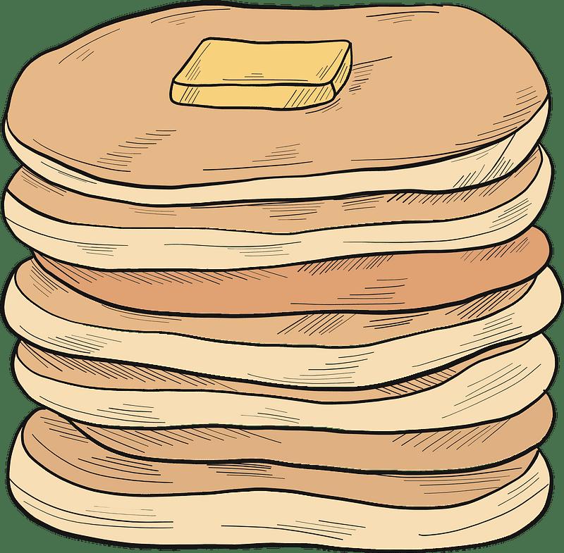 Pancakes clipart transparent for kid