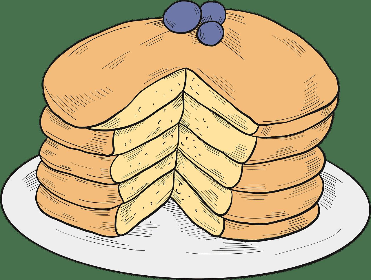 Pancakes clipart transparent free