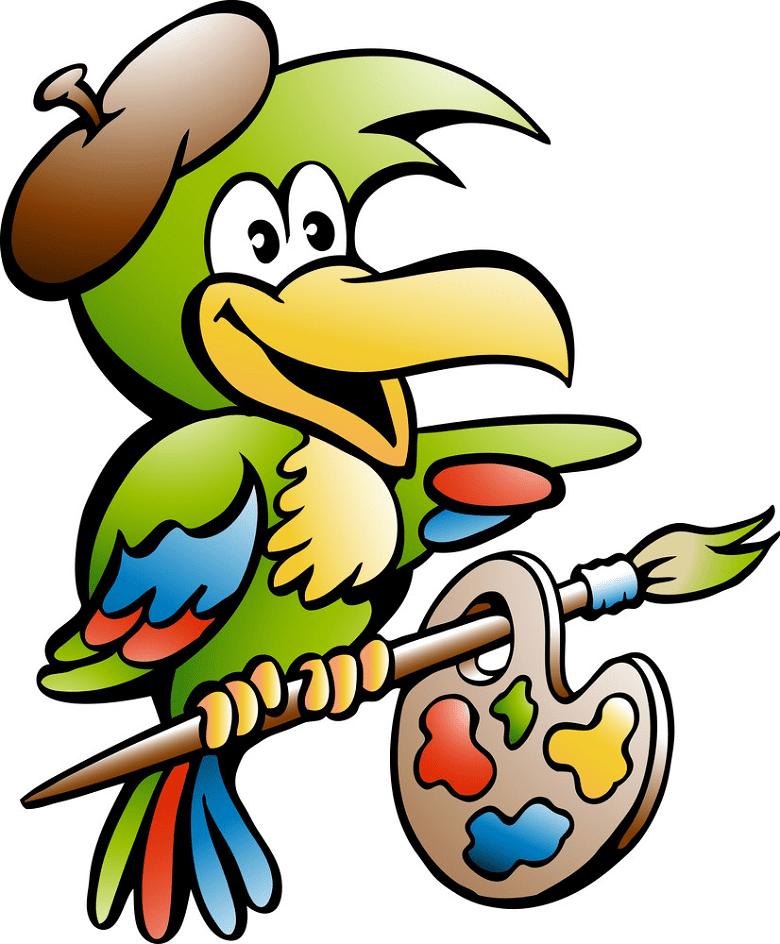 Parrot Artist clipart
