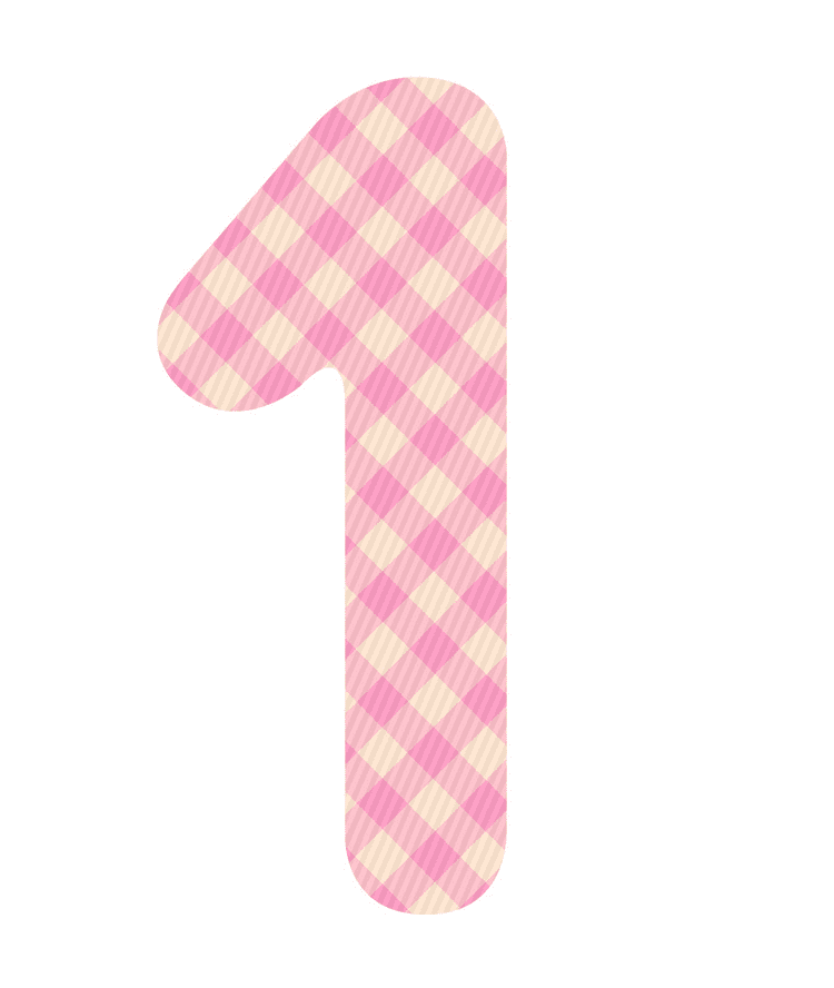 Pink Number 1 clipart