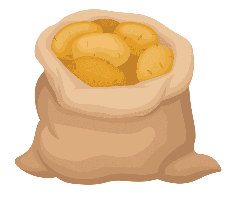 Potatoes clipart for kid