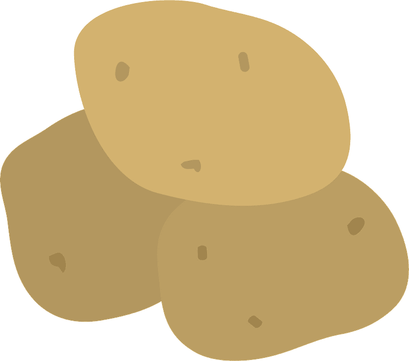 Potatoes clipart transparent for free
