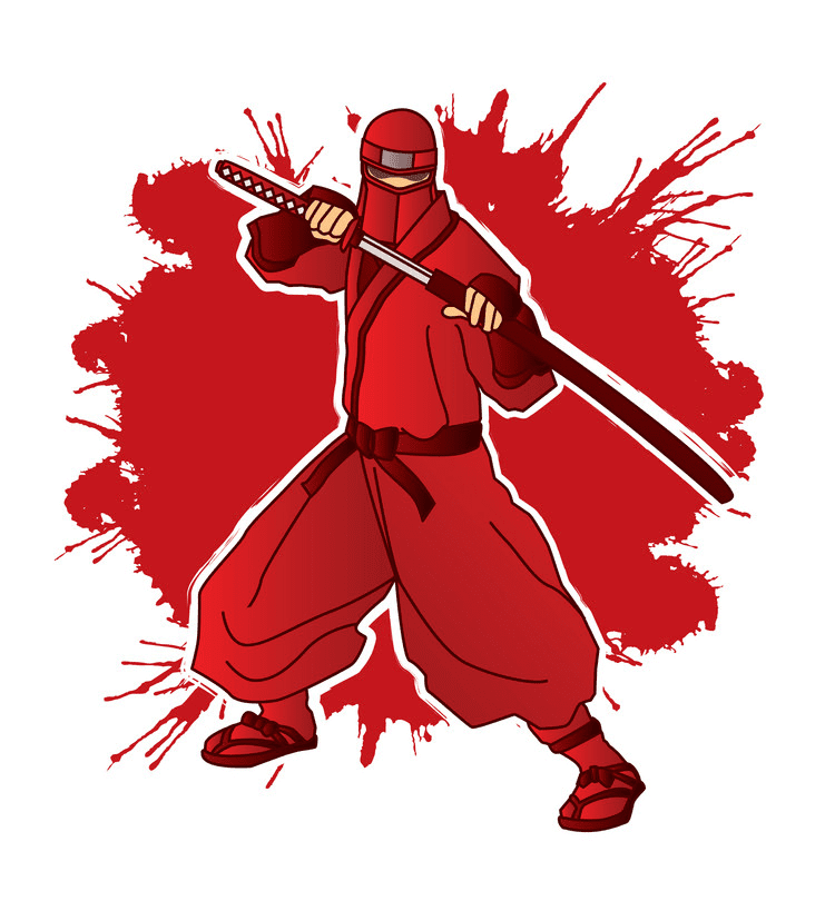 Red Ninja clipart