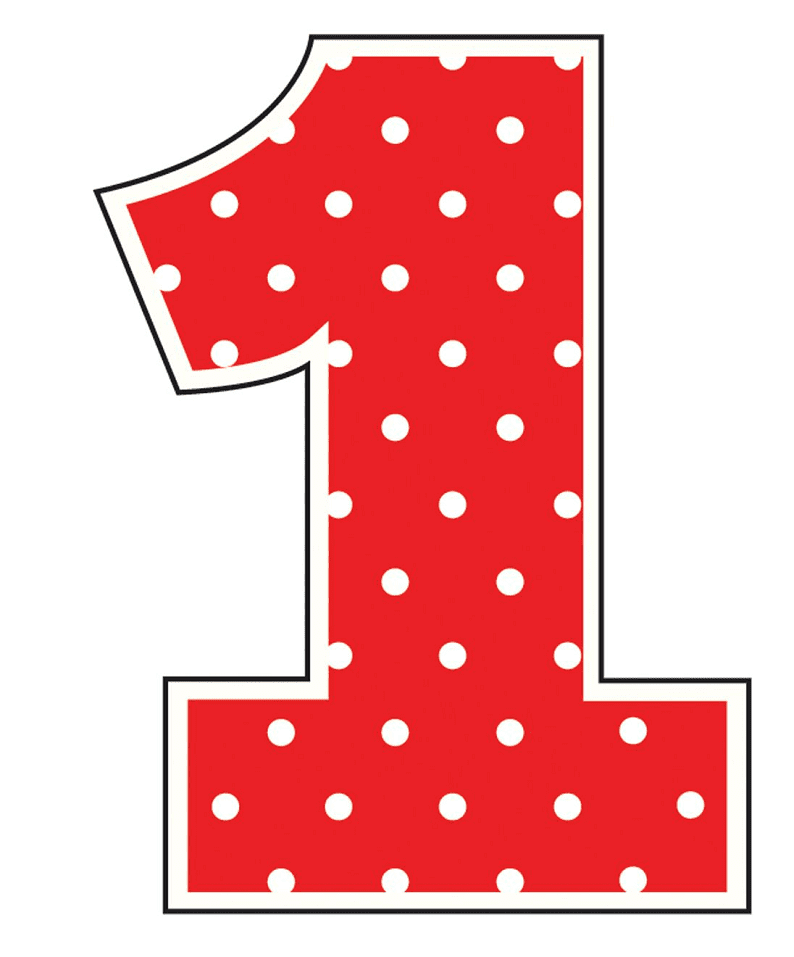 Red Number 1 clipart picture
