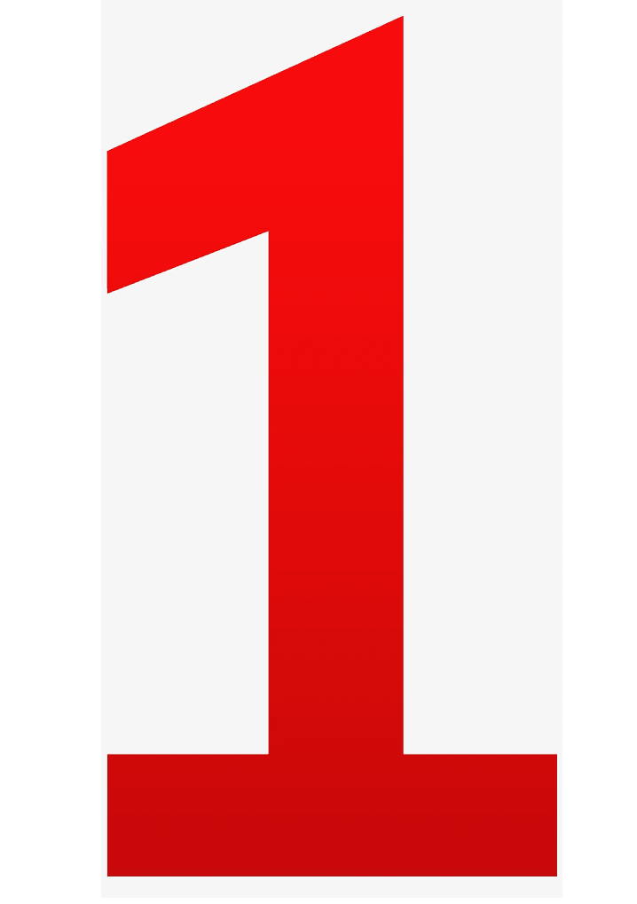 Red Number 1 clipart