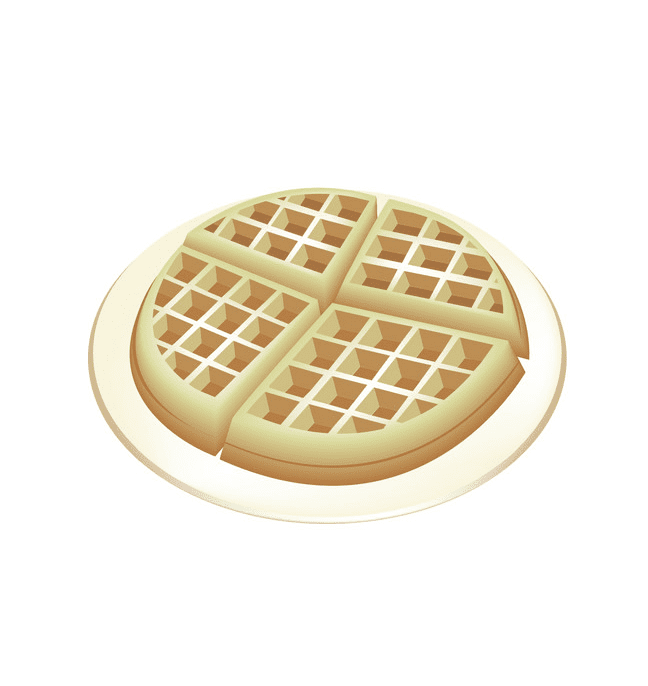 Round Waffle clipart for free