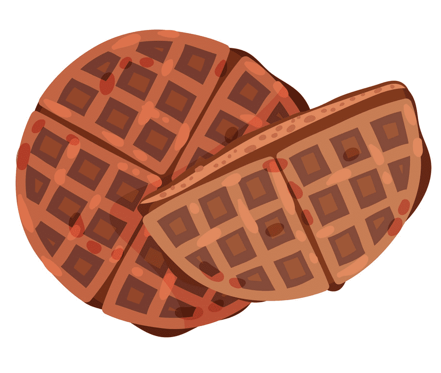 Round Waffle clipart free