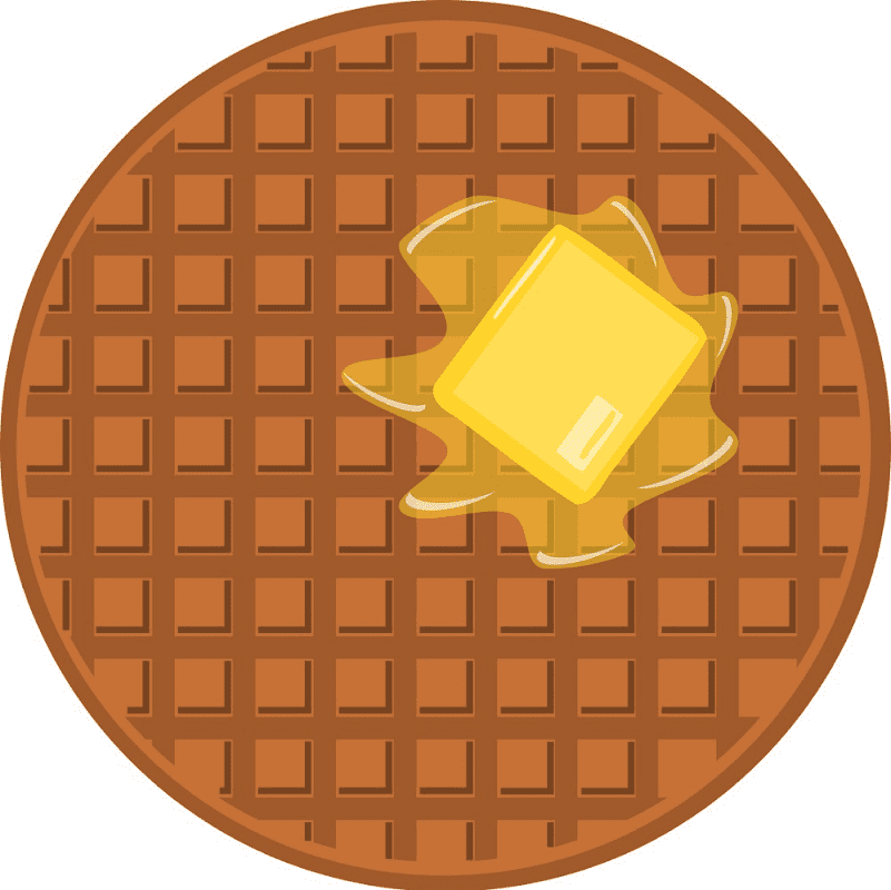 Round Waffle clipart