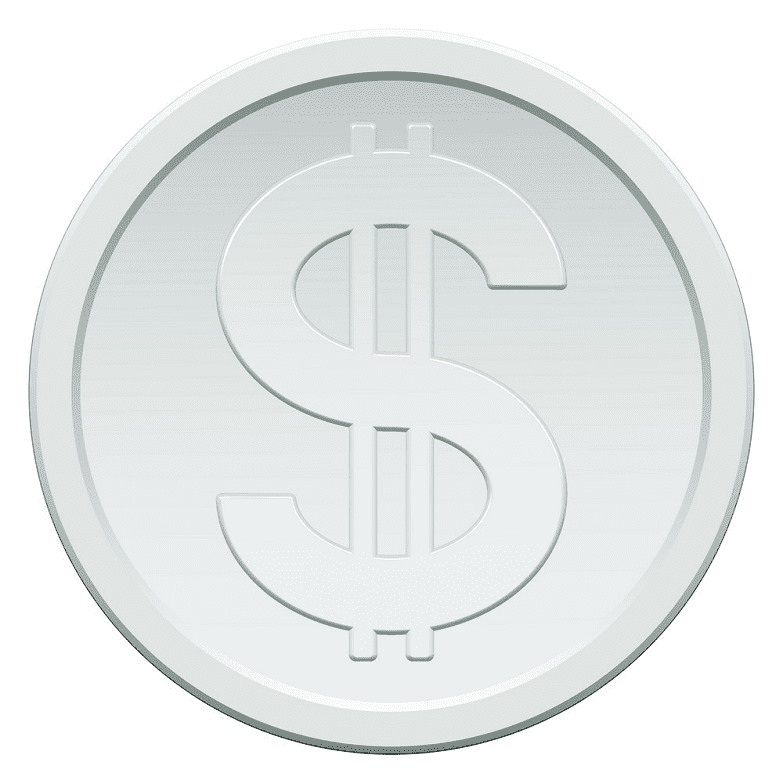Silver Coin clipart for free