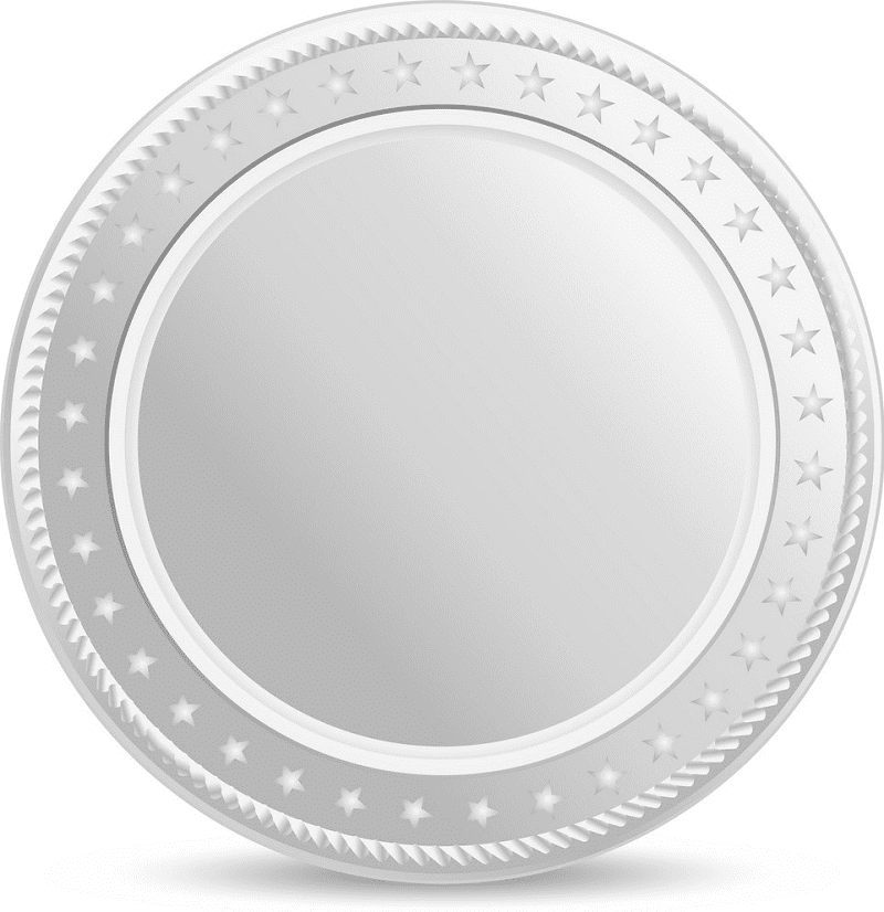 Silver Coin clipart free