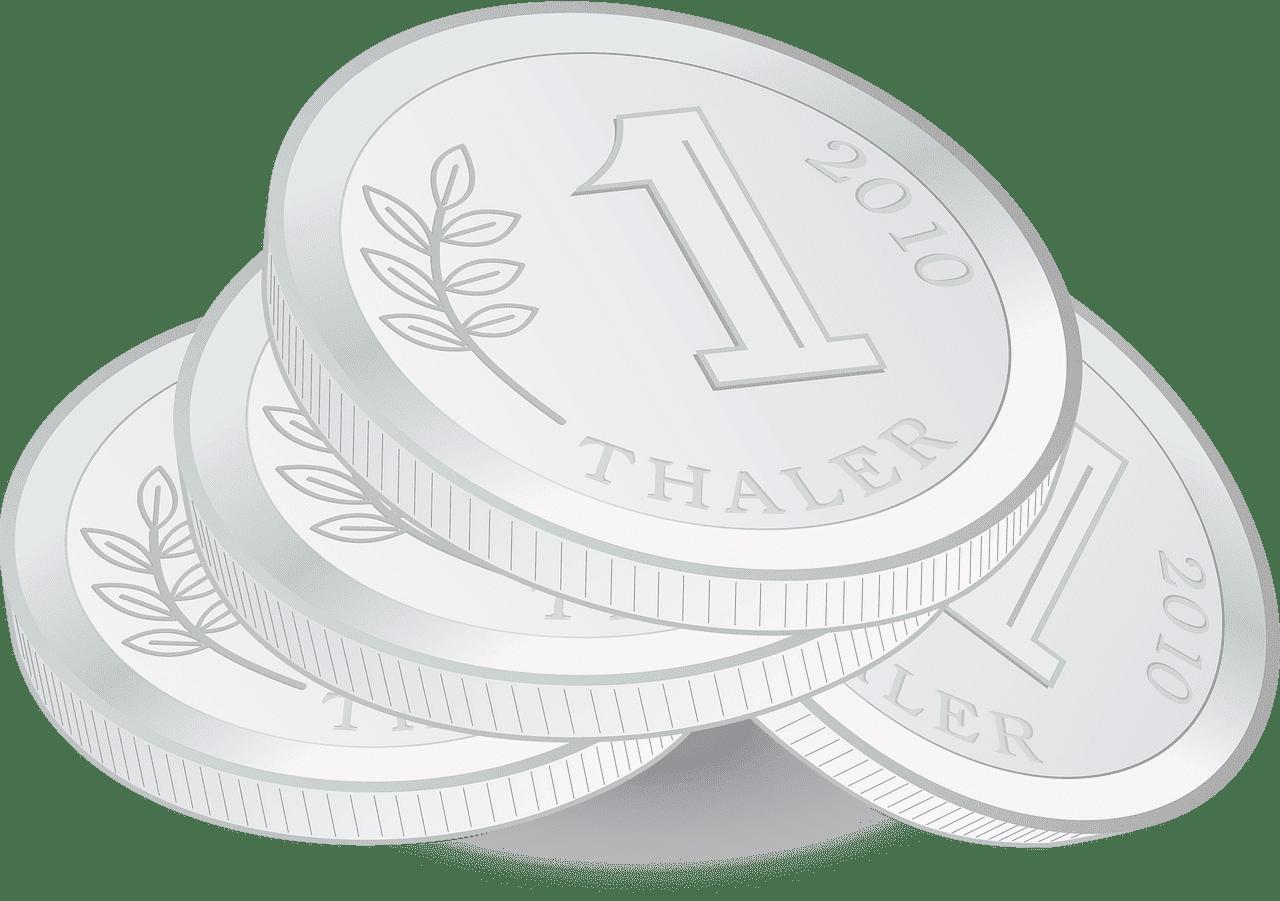 Silver Coins clipart transparent