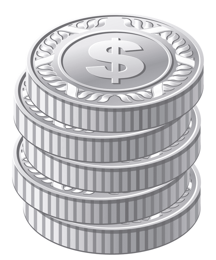 Silver Coins clipart