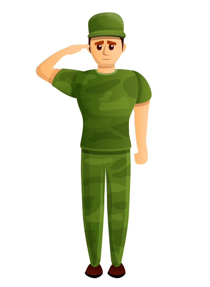 Soldier Salute clipart for free