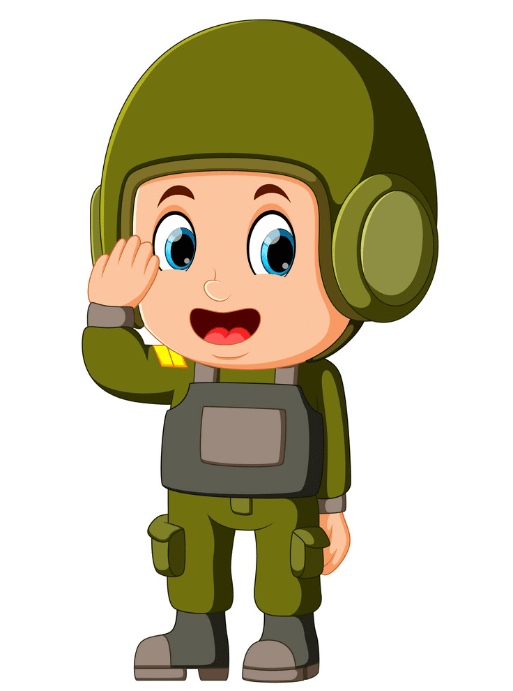 Soldier Salute clipart images