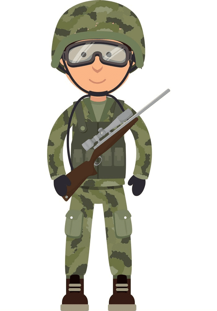 Soldier clipart 3