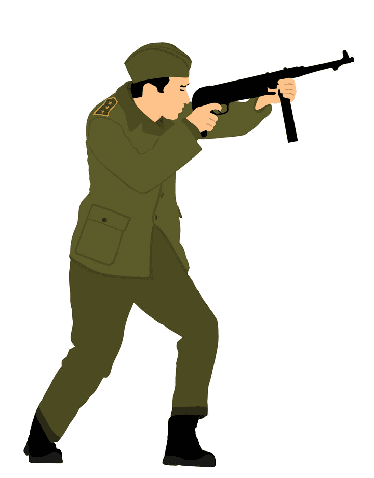 Soldier clipart 4
