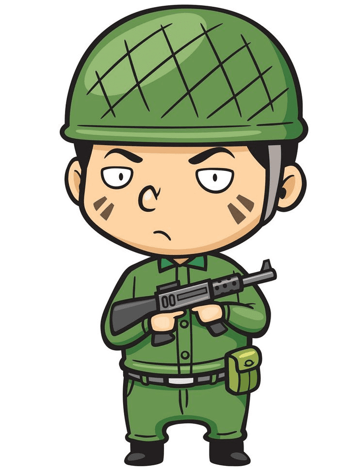 Soldier clipart 5