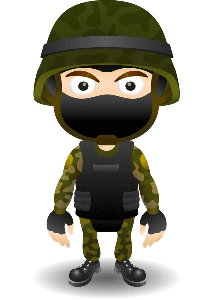 Soldier clipart 6