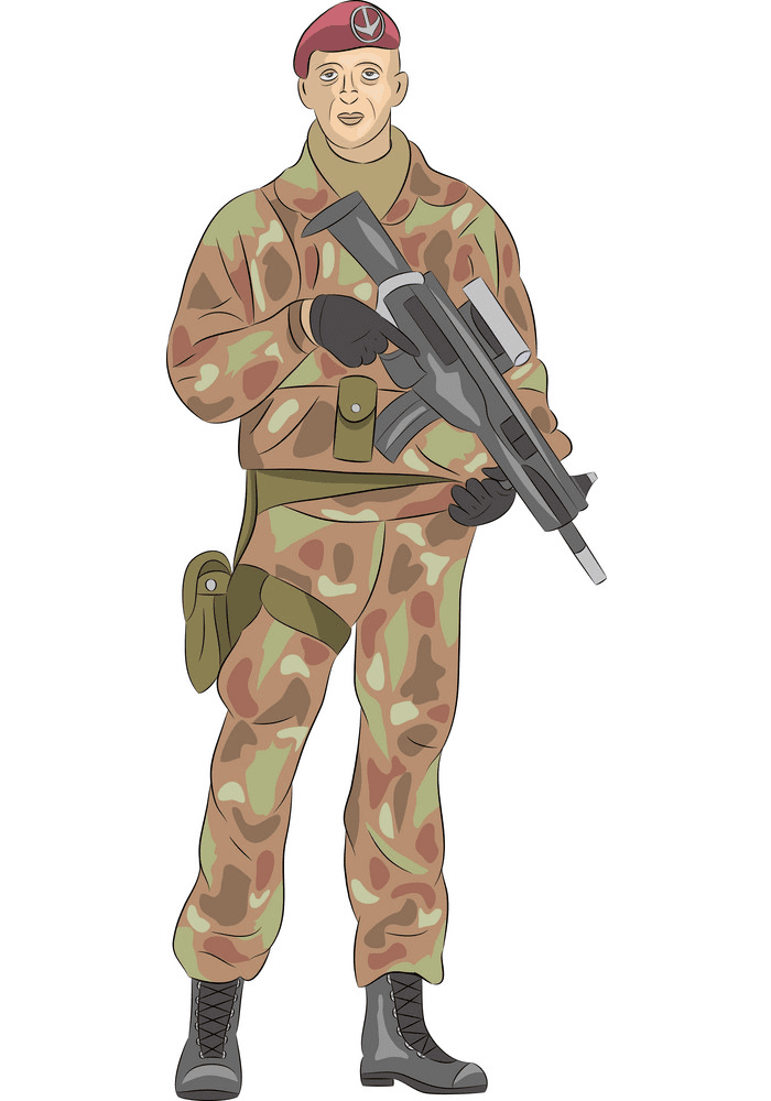 Soldier clipart 7