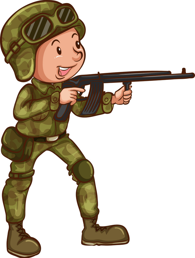 Soldier clipart for free