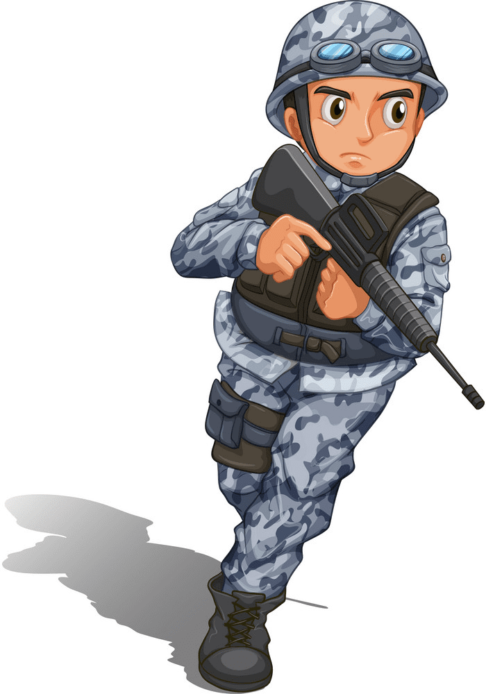 Soldier clipart for kid
