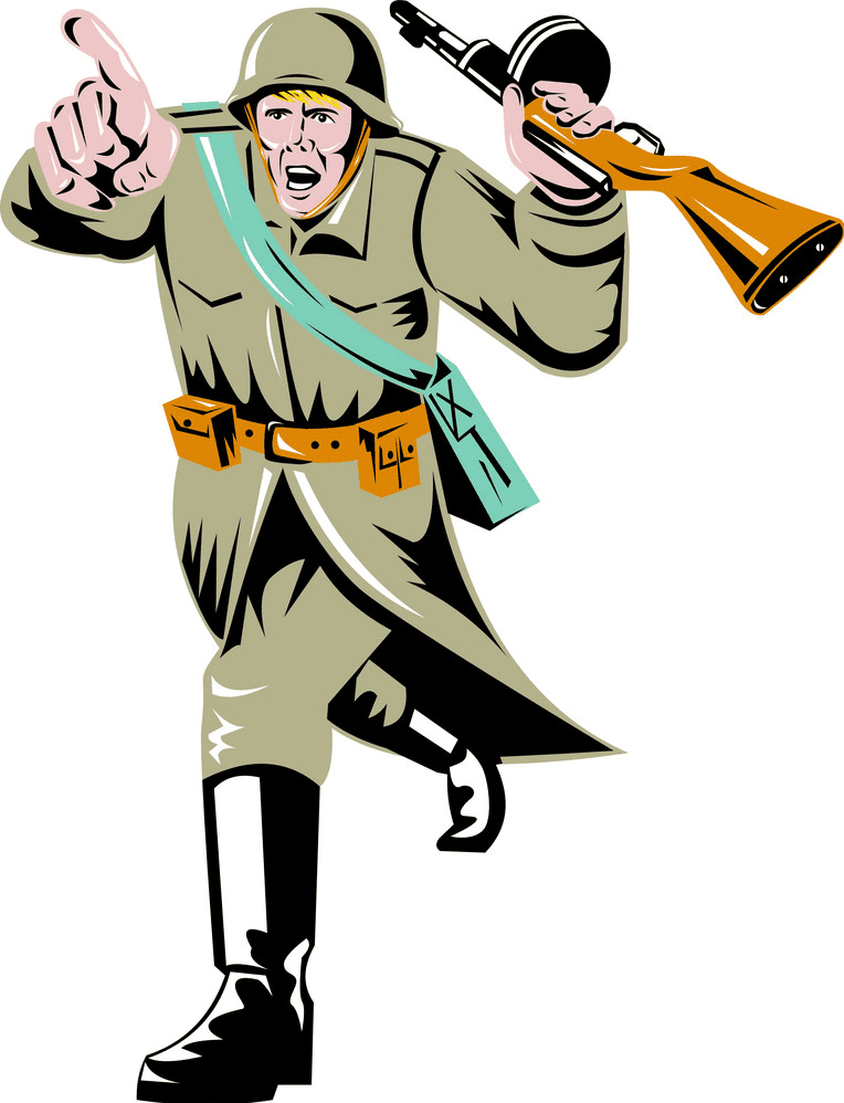 Soldier clipart free picture