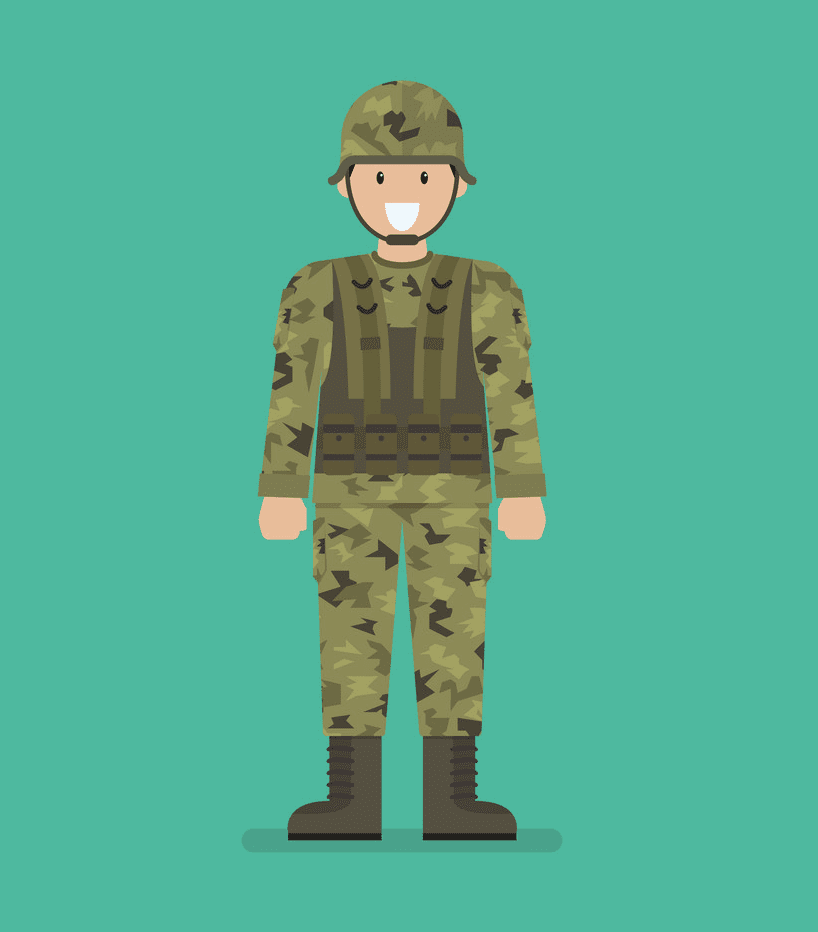 Soldier clipart image