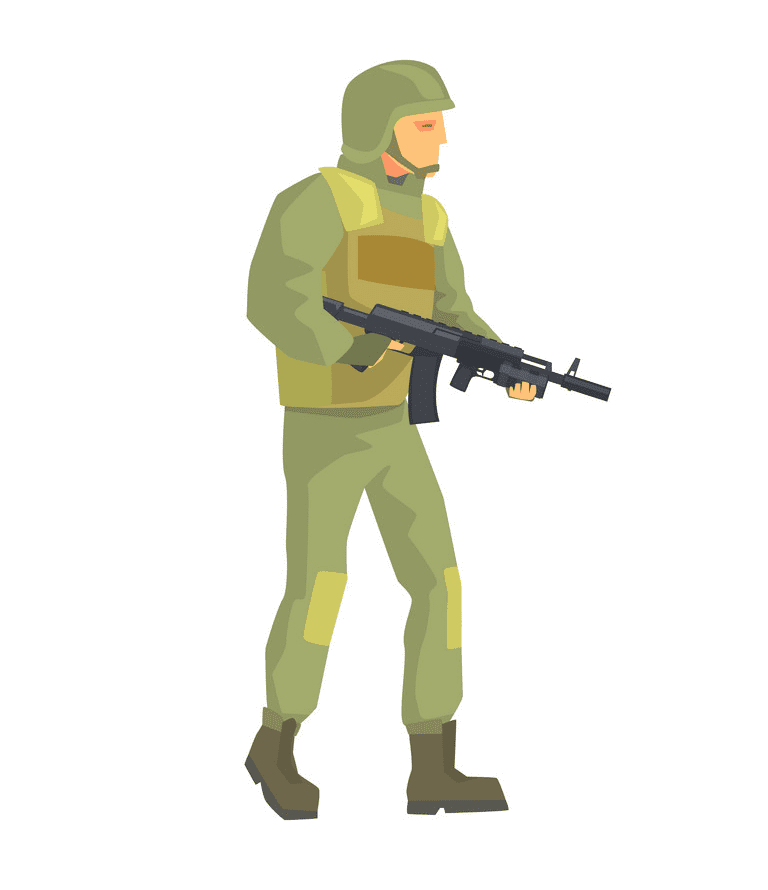 Soldier clipart picture