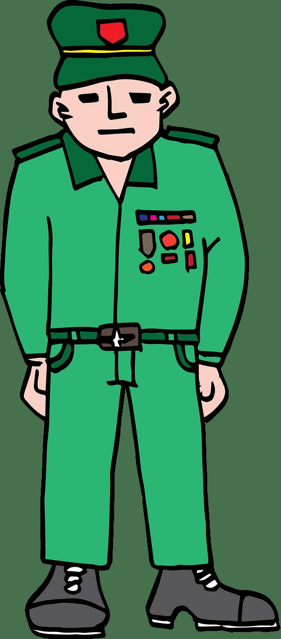 Soldier clipart transparent background 1