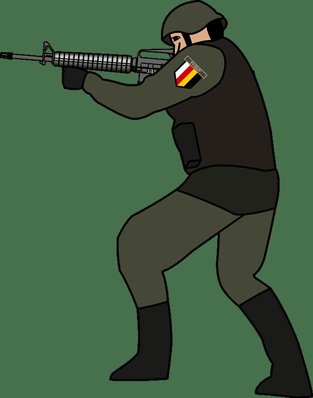 Soldier clipart transparent background 6
