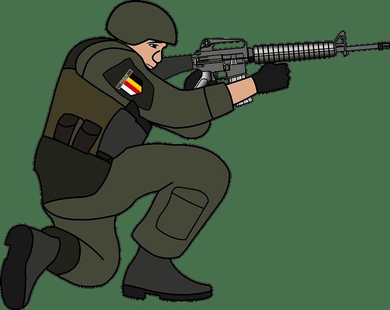 Soldier clipart transparent background 7
