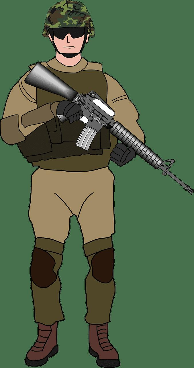 Soldier clipart transparent for kids