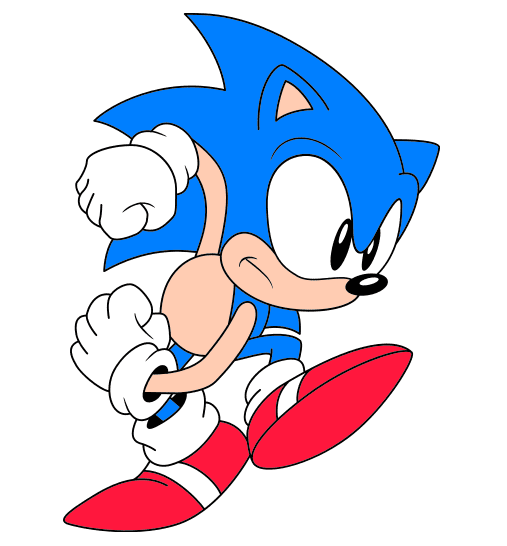 Sonic the Hedgehog clipart picture