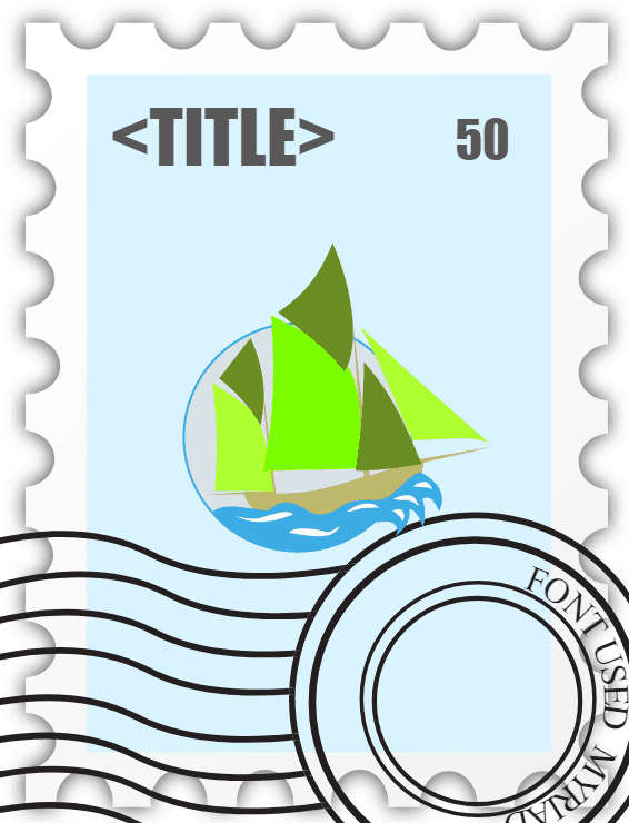 Stamp clipart for kids