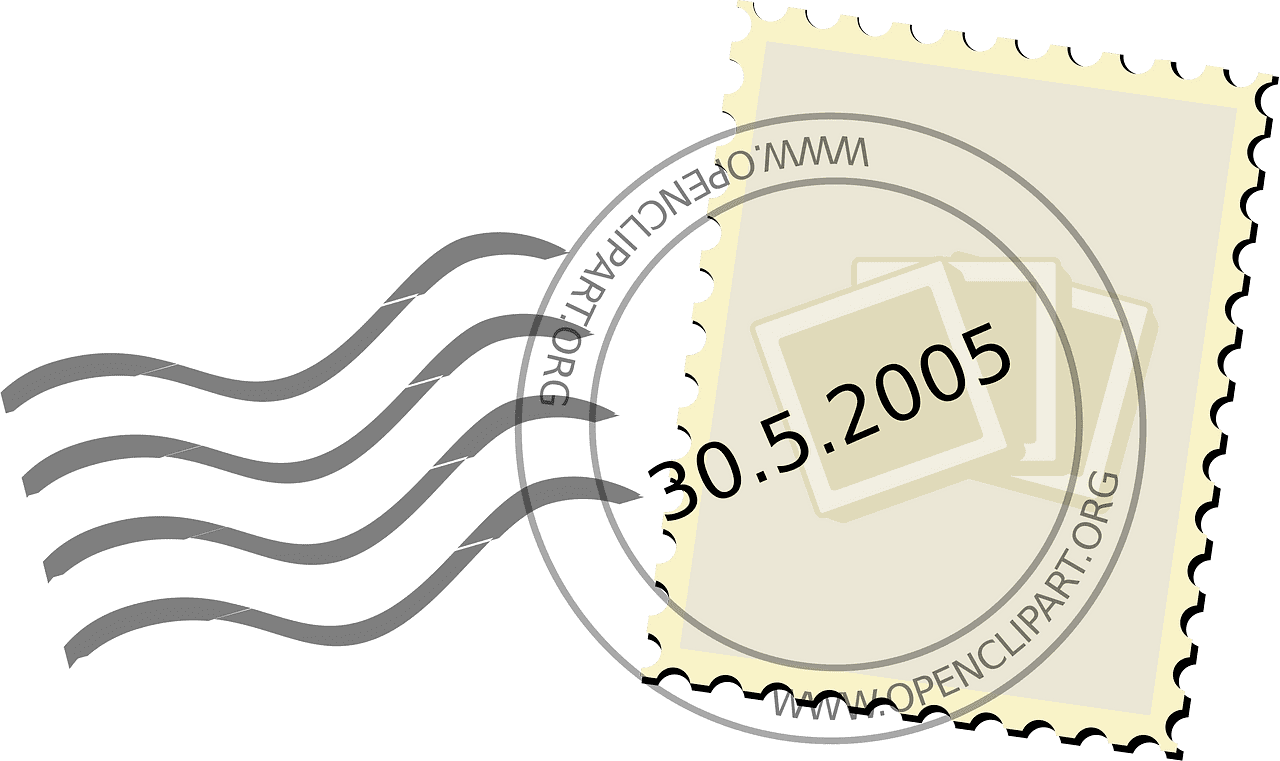 Stamp clipart transparent for kid