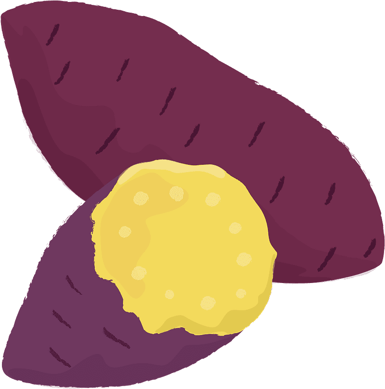 Sweet Potato clipart transparent 3